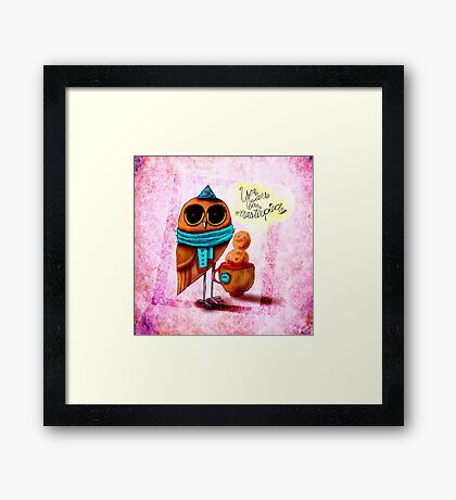 What my #Coffee says to me - January 11, 2015 Framed Print