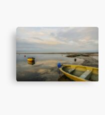 Calm at low tide Canvas Print