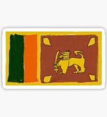 Sri Lanka flag first try Sticker