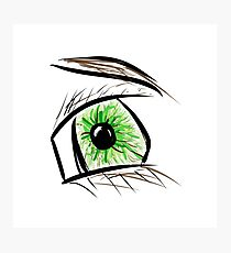 Eye Drawing Design Photographic Print
