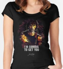 I`m Coming To Get You - JOHN RAMBO Women's Fitted Scoop T-Shirt