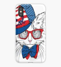 Fashion cat with tie iPhone Case/Skin