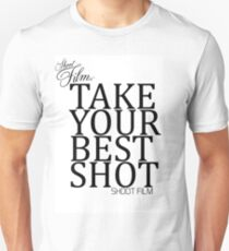 Take your best shot - Shoot Film UK Analogue Photography Design T-Shirt