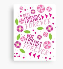 BFF best friends forever pattern Canvas Print