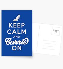 Keep Calm And Carrie On Postcards