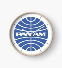Pan Am Classic Logo Clock