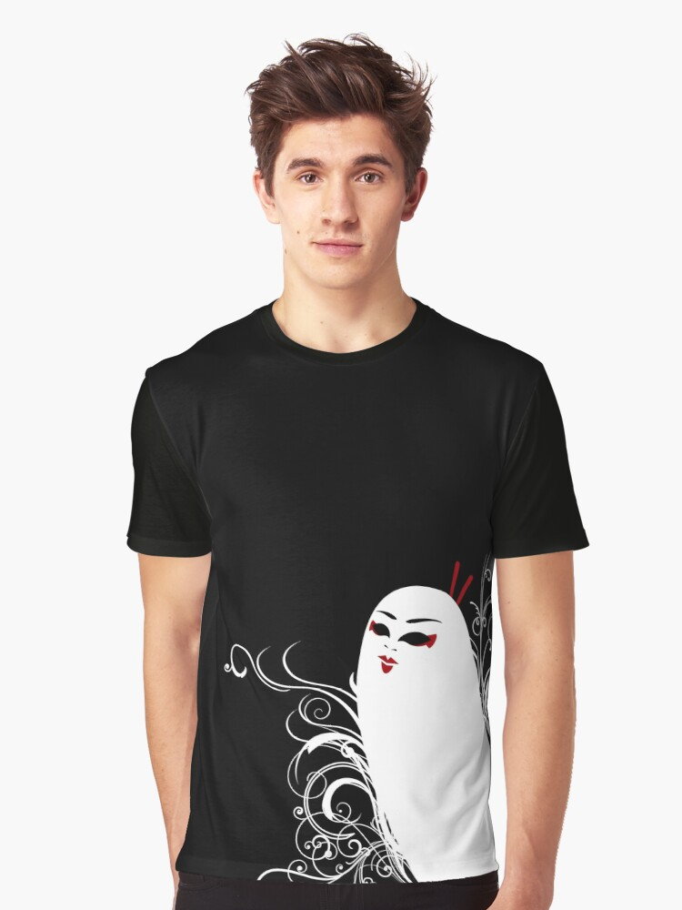Ghostly Geisha Graphic T-Shirt Front
