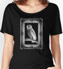 Scratchy Owl (Framed Vers.) Women's Relaxed Fit T-Shirt