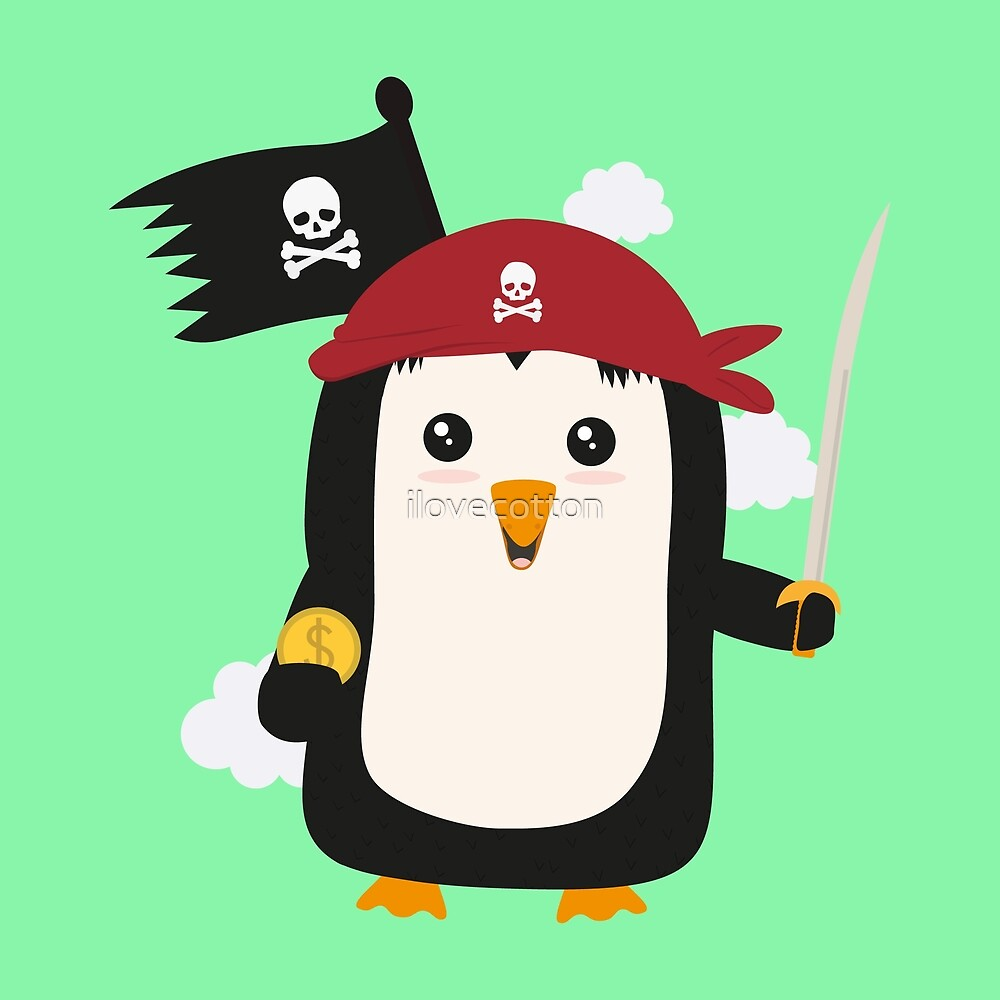 Penguin Pirate Goldcoin R7sp3 by ilovecotton