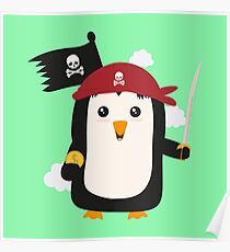 Penguin Pirate Goldcoin R7sp3 Poster