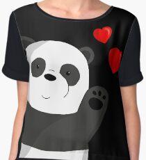 Cute panda Women's Chiffon Top