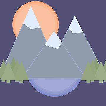 Mountain Sunest by ashleyrbrinkman