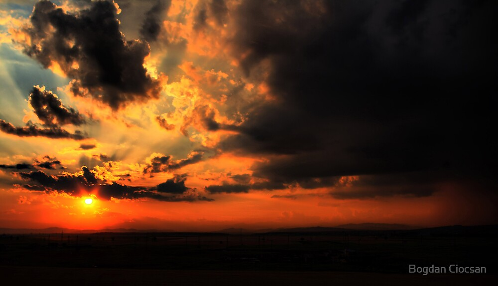 Burning in the sky by Bogdan Ciocsan
