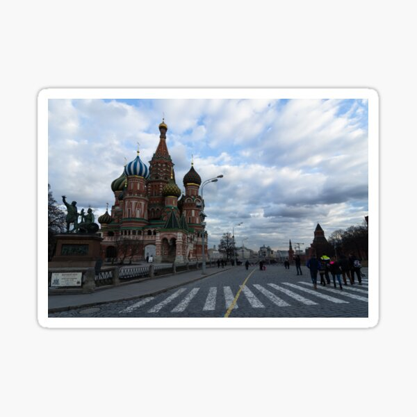Palace of adornments - St Basil's Moscow Russia Sticker