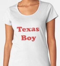 Texas Girl - T-Shirt Sticker Women's Premium T-Shirt