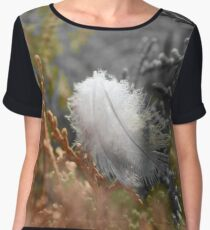 Feather on Plants Women's Chiffon Top