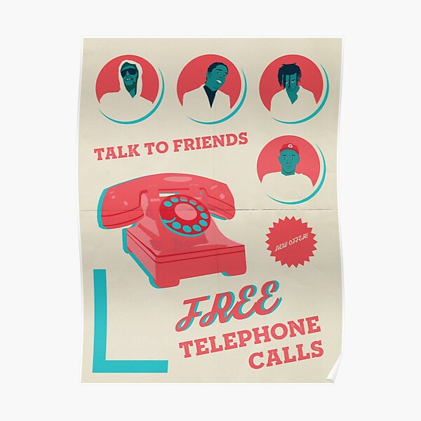 Rocky, Tyler and Carti - Telephone Calls Poster