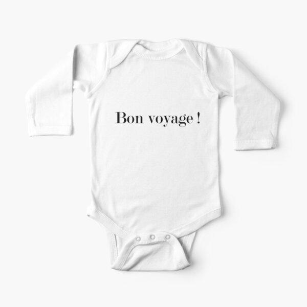 Bon voyage Long Sleeve Baby One-Piece