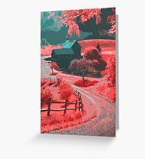 Farm in Autumn Greeting Card