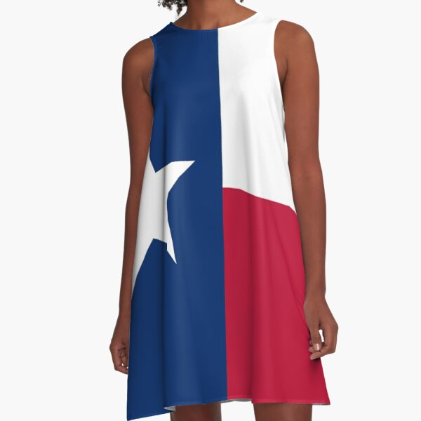 Texas Flag Sticker A-Line Dress