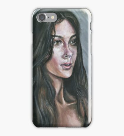 Oil portrait study iPhone Case/Skin