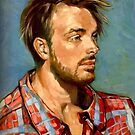 "Jack. Oil on composition board 14x18"". 2017 by Elizabeth Moore Golding"