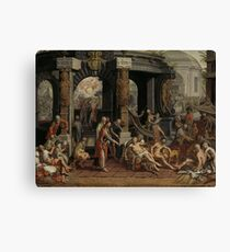 The Healing of the Paralytic at Bethesda 1575 Pieter Aertsen Canvas Print