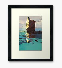 Lonely Rock Framed Print