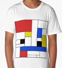Mondrian Lines Long T-Shirt