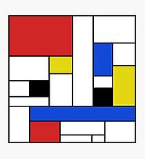 Mondrian Lines Photographic Print
