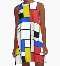 Mondrian Lines A-Line Dress