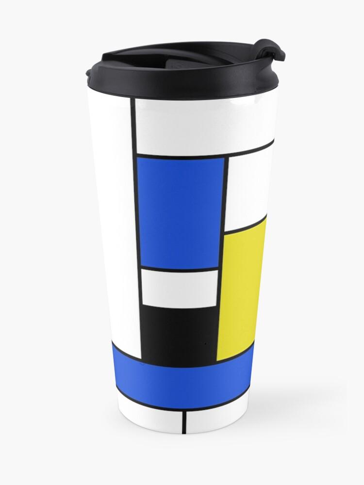 Alternative Ansicht von Mondrian Linien Thermobecher