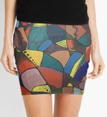 Lost in Colourful Abstract Mini Skirt
