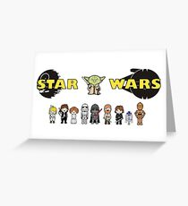 The Star Wars Family Greeting Card