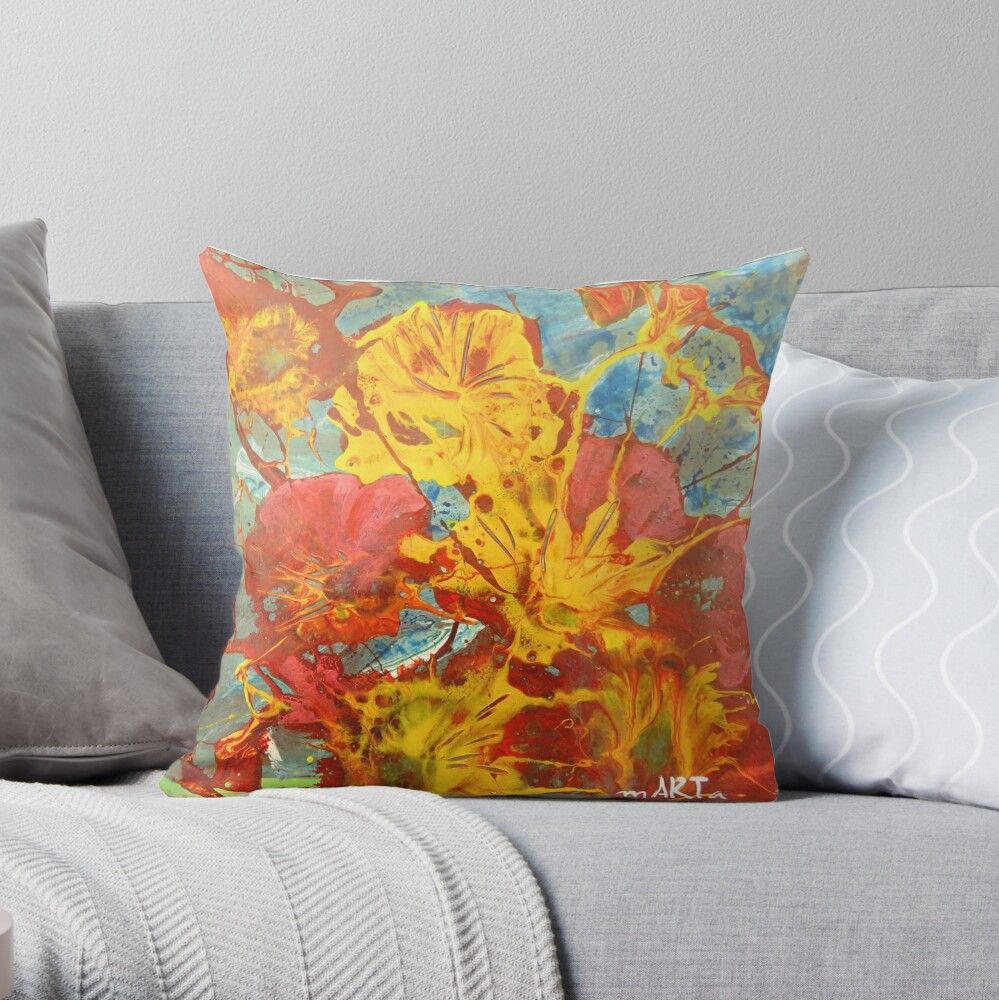 Flowering Expectations Throw Pillow