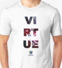 SUPERHERO VIRTUE - Image with Text T-Shirt