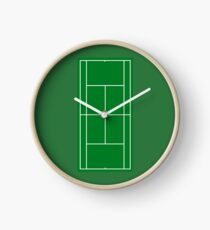 Tennis Court Clocks Redbubble