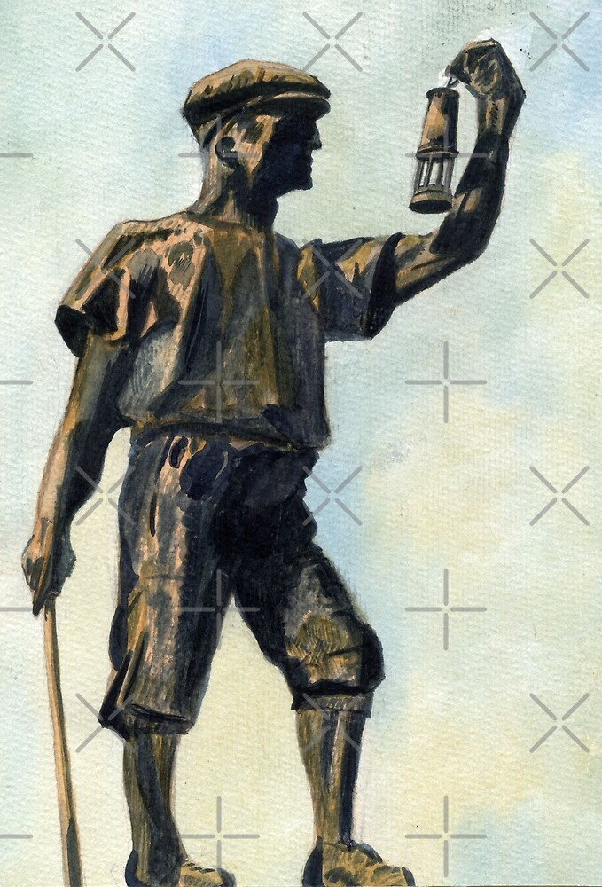 106 - WOODHORN COLLIERY MEMORIAL - DAVE EDWARDS -WATERCOLOUR - JUNE 2003 by BLYTHART