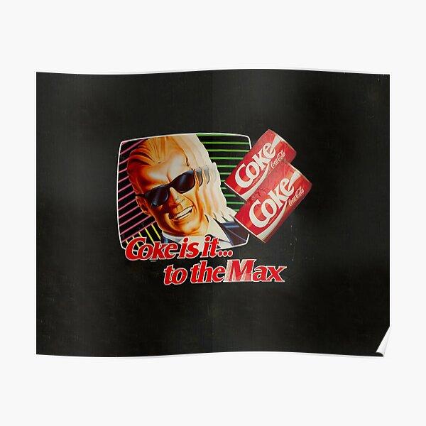 Max Headroom 80s Coke Ad Poster