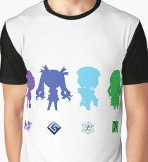 Hyperdimension Neptunia Four Goddesses Graphic T-Shirt