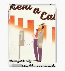 Rent a Cab! NYC Yellow cab poster. iPad Case/Skin