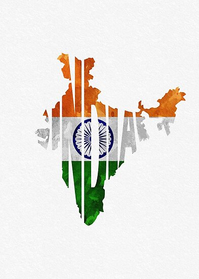 India Map Flag.India Typographic Map Flag Posters By A Deniz Akerman Redbubble