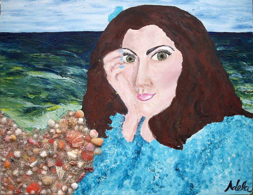"""Self Portrait At Faux Beach"" by Adela bellflower"