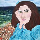 """""""Self Portrait At Faux Beach"""" by Adela Camille Sutton"""