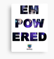SUPERHERO EMPOWERED - Image with Text Canvas Print