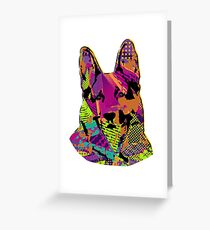 Fun pop art design for those truly obsessed with German Shepherd Dog Greeting Card