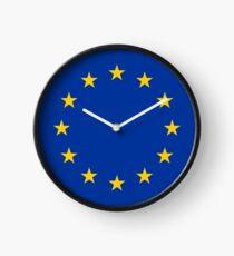 Reloj Reloj con bandera de la UE