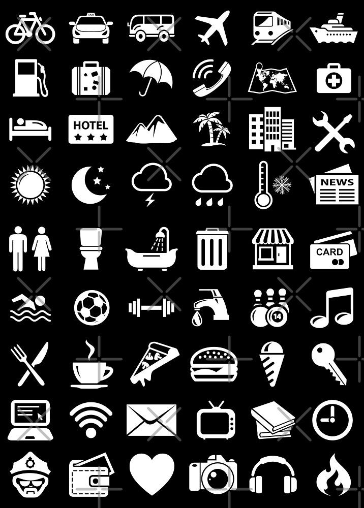 Reise-Ikonen-Sprache (weiß) von DCornel