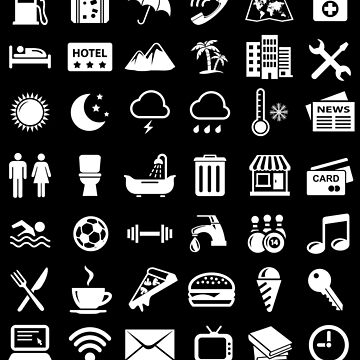 Travel Icons Language (White) by DCornel