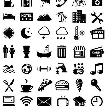 Travel Icons Language by DCornel